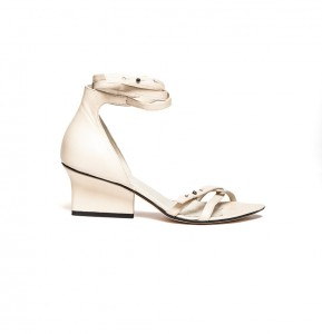 Sid strappy sandals cream