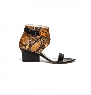 Ruby wrap sandals ocre python