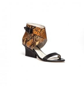 Ruby wrap sandals ocre python