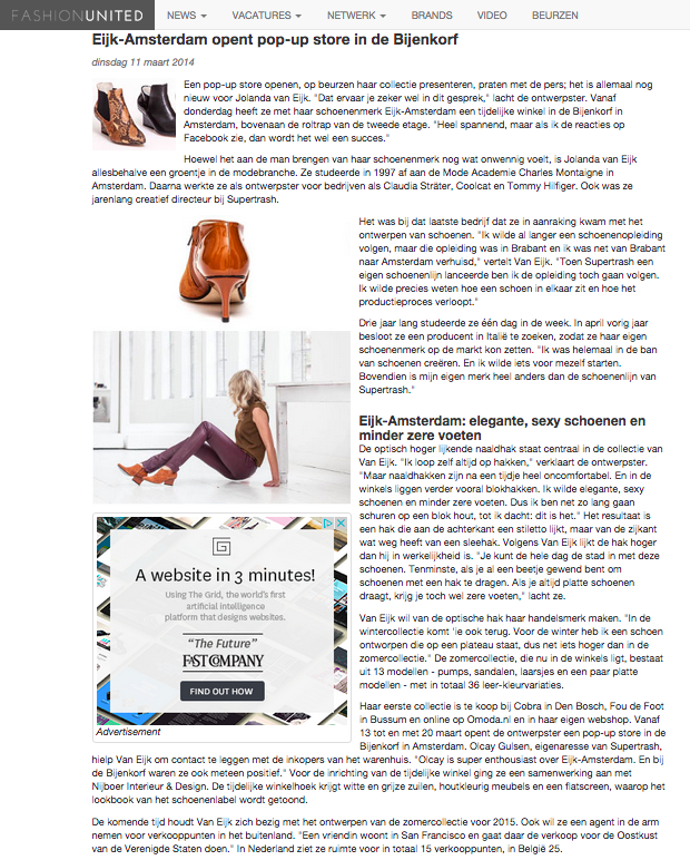 FashionUnited Bijenkorf article
