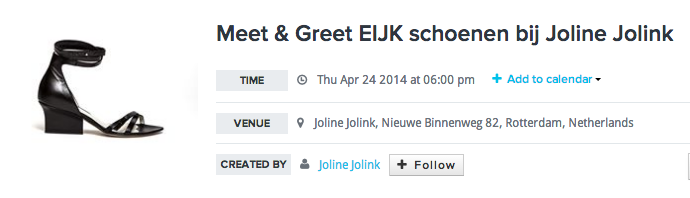 EIJK meet and greet style SID