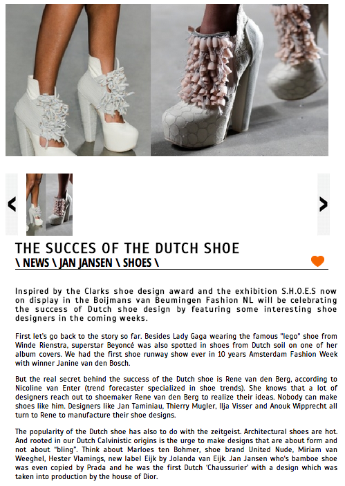 Fashionnl The Succes of the dutch shoe