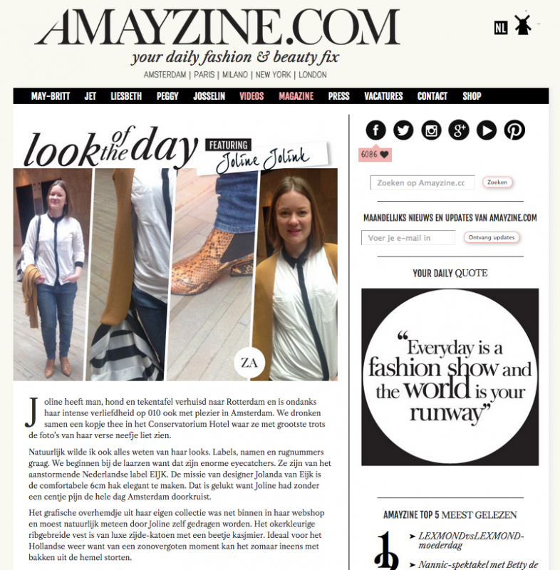 Amayzine EIJK in look of the day