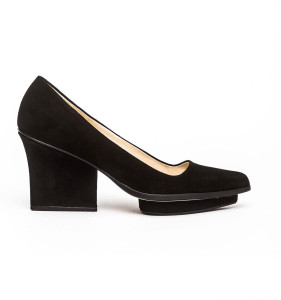Anne platform pumps black