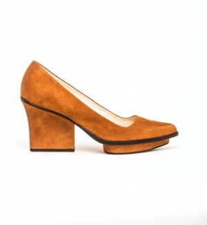 Anne platform pumps camel