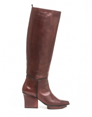 Mira knee high boots bordeaux
