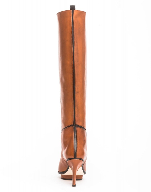 Mira knee high boots camel