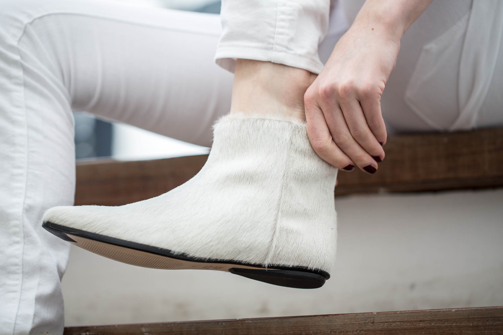 Zedd ankle boots cream