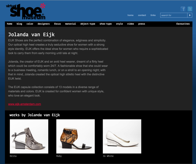 Eijk Virtual Shoe Museum