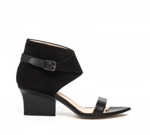 Ruby wrap sandals black