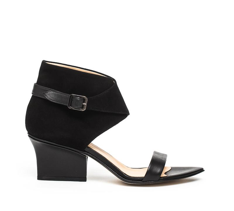 Ruby wrap sandals black