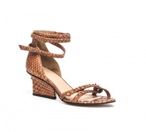 Sid strappy sandals cognac python