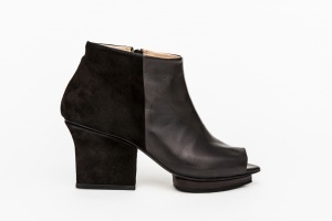 Christal ankle boots open toe black