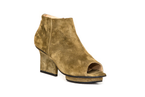 Christal ankle boots open toe olive
