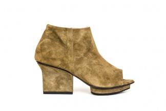 Christal peep-toe booties