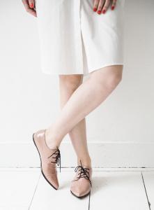 Renee derby shoes nude