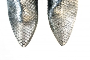 Denis ankle boots silver washed python