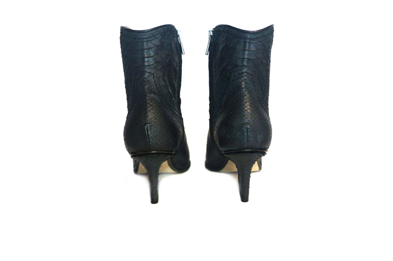 Abby western boots black python