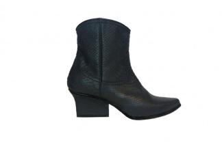 Abby western boots black python
