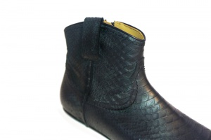 Kenny western boot black python