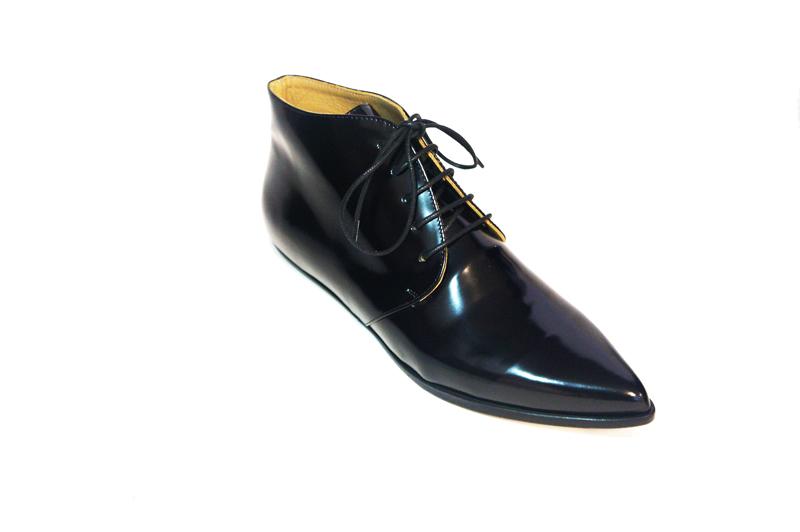 Merle derby shoes black