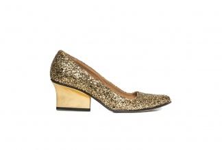 Jo pumps gold glitter