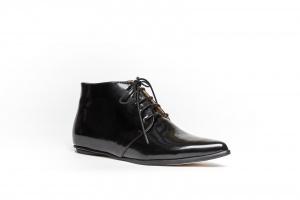 Merle flat derby shoes black