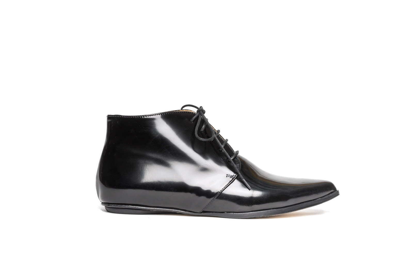 Merle flat derby shoes black