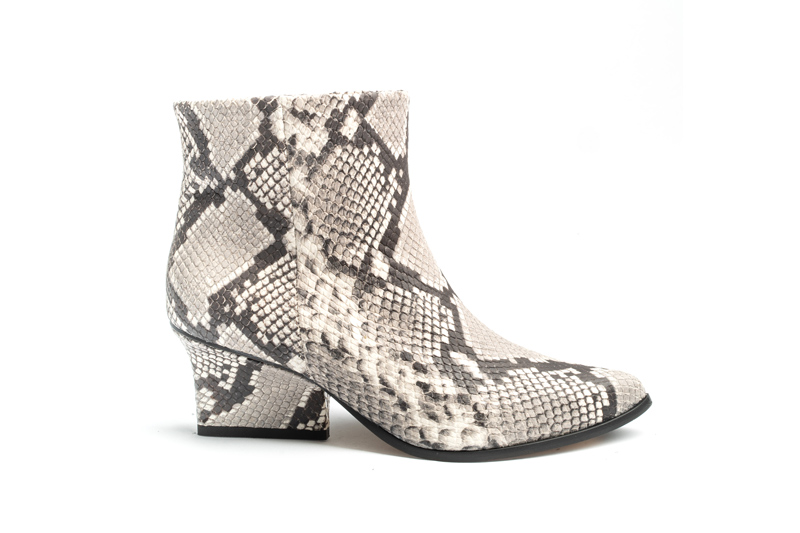 Denis ankle boots smog python side view