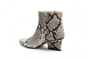 Denis ankle boots smog python side angle