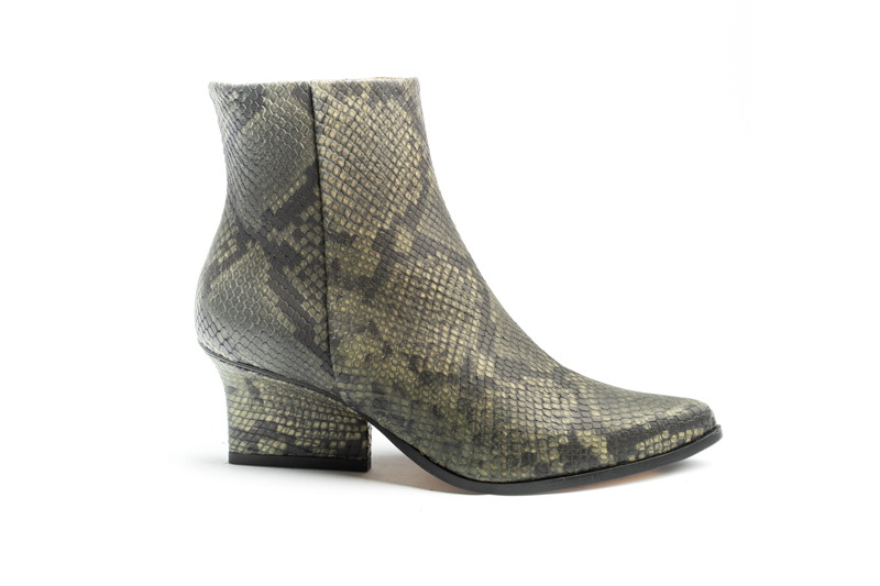 Ryan ankle boots Green python