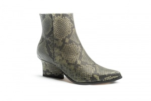 Ryan ankle boots Green python angel view