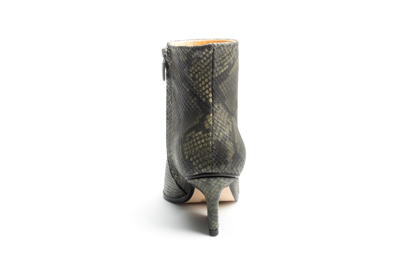 Ryan ankle boots Green python back view