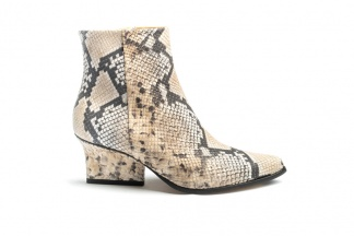 Ryan ankle boots beige python side view