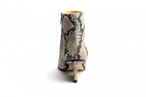 Ryan ankle boots Beige python back view