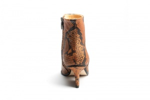 Ryan ankle boots camel python back view