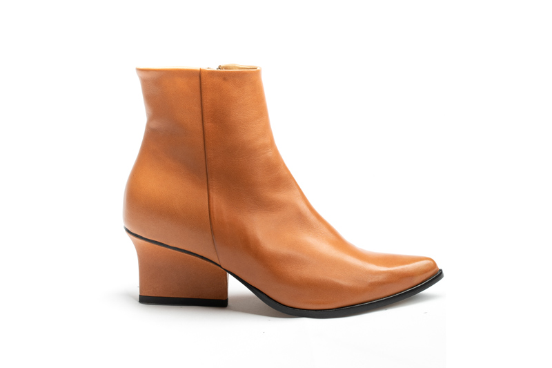 Ryan ankle boots camel side view