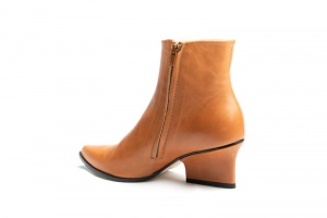 Ryan ankle boots camel angle back view